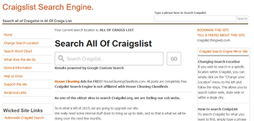 Craigslist Search Engine Old Site Image
